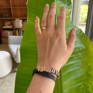 Jewelry - Navy Leather bracelet with mixed metals